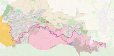 Karte mit dem Landschaftsschutzgebiet