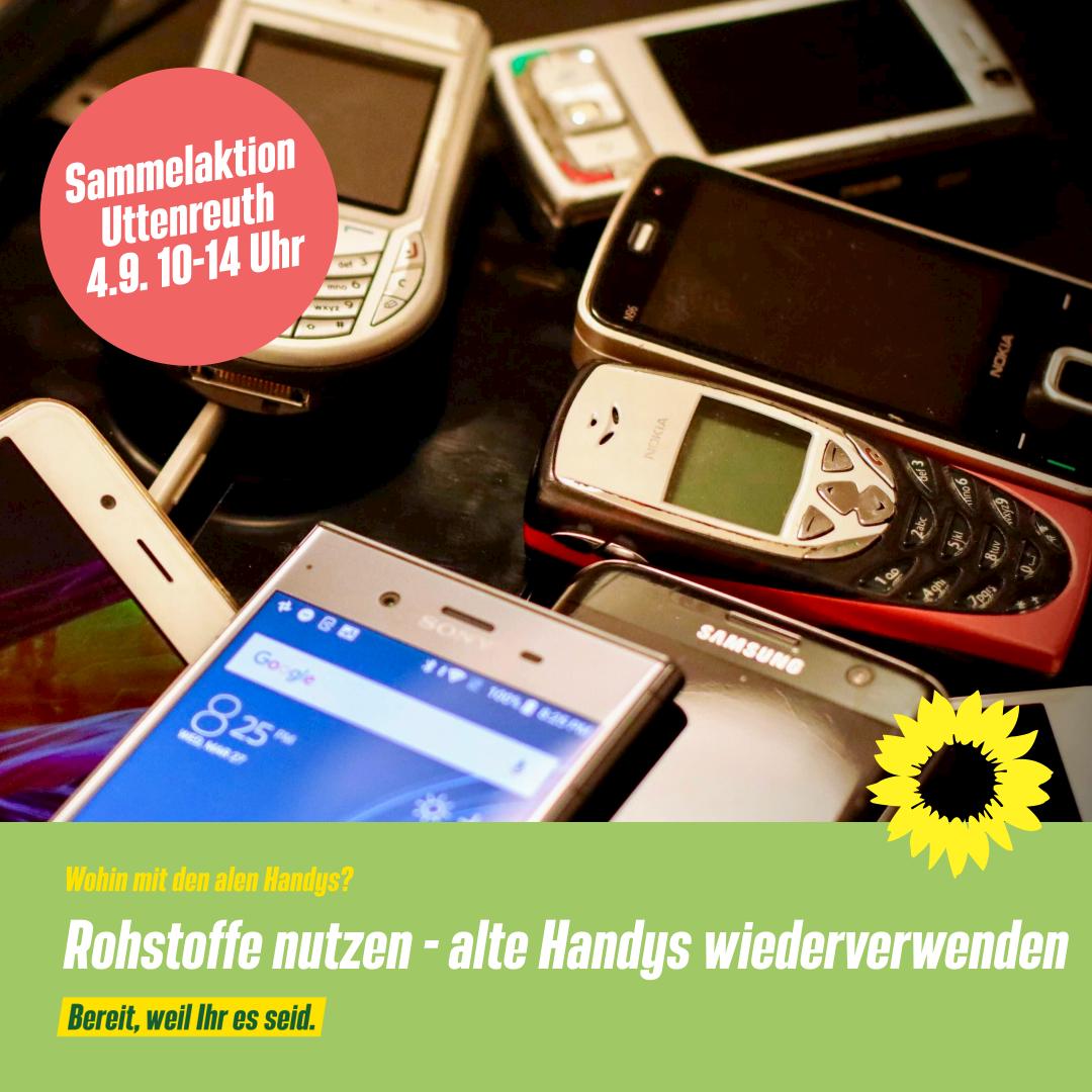 Handysammelaktion am Infostand